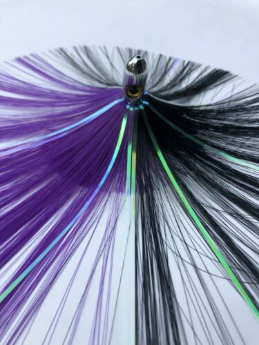 Islander Ballyhoo Troll Lure Skirt Purple Black Weighted Flash MAHI TUNA WAHOO