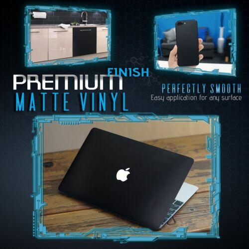 "60/""x60/"" Inch Matte Flat Black Vinyl Car Wrap Film Decal Bubble Free Air Release"