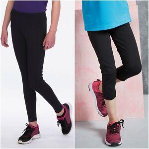 14d7f57e050e2 Childrens Boys Girls PE Gym Sports Trousers Leggings Running Cycling ...