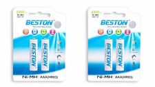 Beston AAA (R03) Ni-MH Rechargeable Batteries 1100 mAh - 4 pc Set