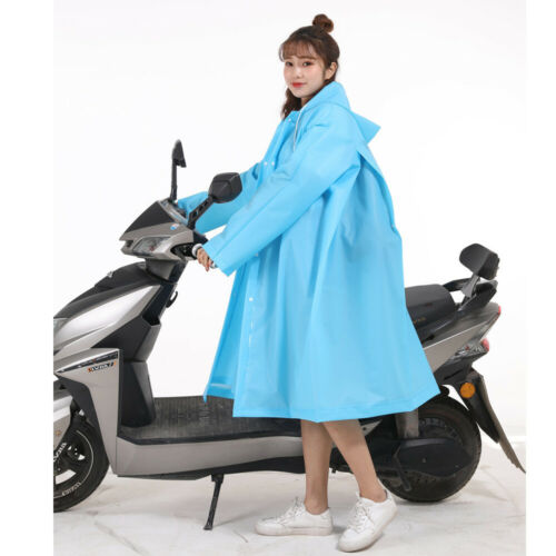 Unisex EVA Raincoat Hiking Bike Electric Bike Big Hat Brim Raincoat Outdoor