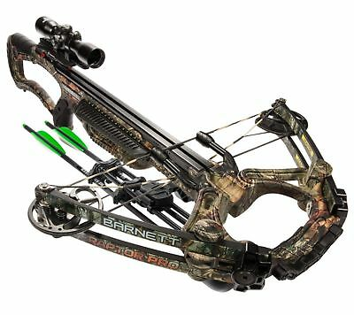 Barnett Raptor PRO STR 400FPS TriggerTech Realtree Camo Crossbow Package (78005)