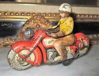 Schuco moto Carl jouet mécanique ancien en tole