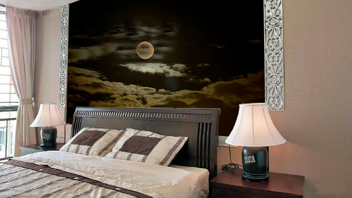 3D Nacht Mond Wolken 84 Tapete Wandgemälde Tapete Tapeten Bild Familie DE Summer
