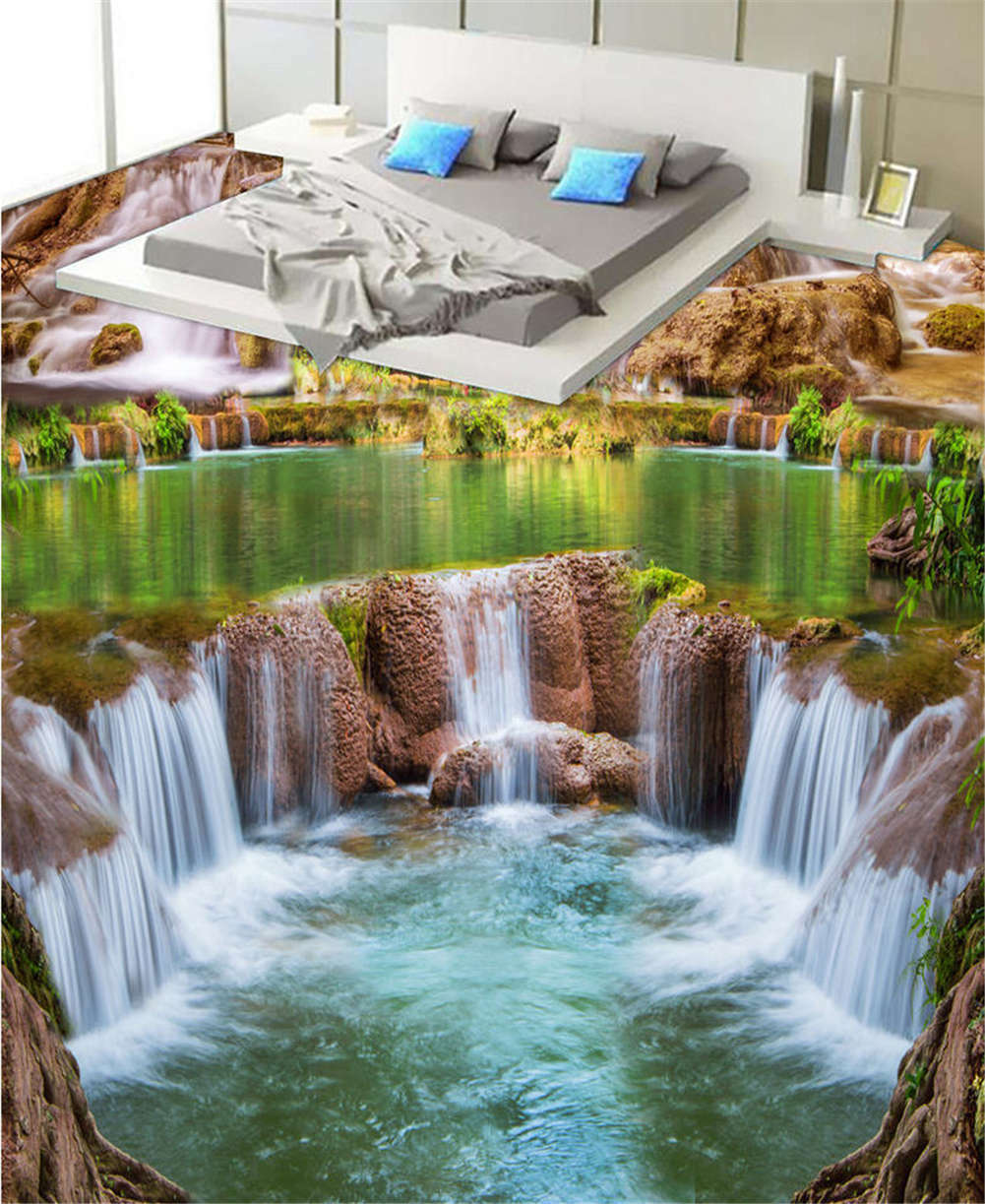 Submissive Water 3D Floor Mural Photo Flooring Wallpaper Home Print Decoration