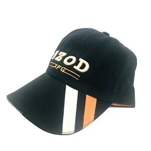 IZOD-XFG-Golf-Hat-Adjustable-Baseball-Cap-Black-Orange-Strapback-EUC