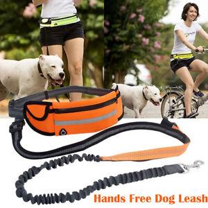 Adjustable-No-Hands-Leash-Dog-Pet-Lead-Waist-Belt-For-Jogging-Walking-Running