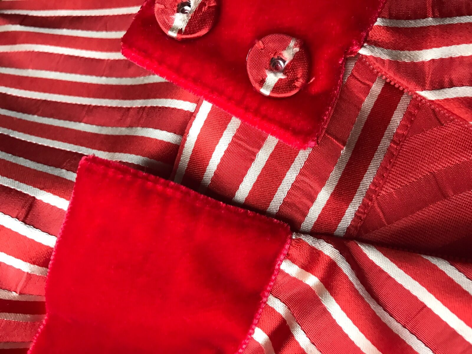Marc Jacobs Couture New Red White silk stripe Bow Women's Dress skirt size  M L