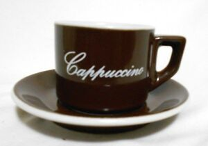 Acf Cappucino Brown And White Cup Amp Saucer Italian Ceramic