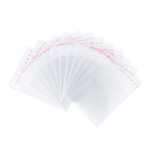 100pcs Clear OPP sacos de celofane Auto Adesivas Tiny Embrulho Bolsa 70x50mm
