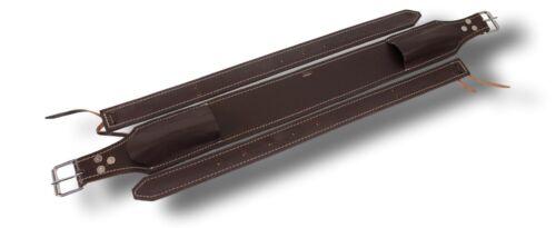 "Brand Dark Brown Leather 3/"" Wide Western Back Cinch w// Billets Horse Tack D.A"