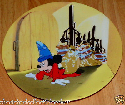 Disney Collector Plate Fantasia Series Wizardry Gone Wild COA