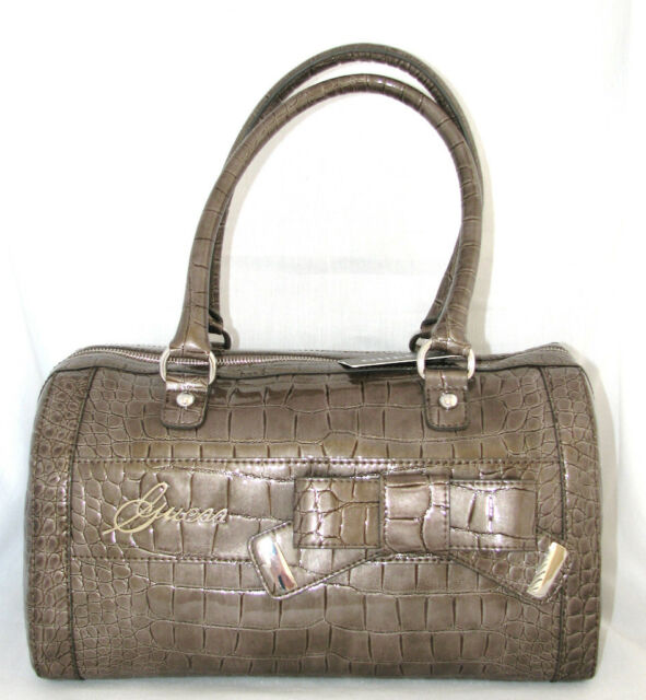 Marciano Lucida Guess Summerland Pelle Stampa Da Coccodrillo Taupe LS4jc53RqA
