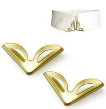 2 Pieces Blouse Shirt Metallic Metal Pointed Collar Clips Wing Tips nr 7
