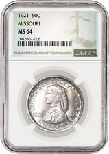 1921 50C Missouri Centennial Commemorative Silver Half Dollar NGC MS64