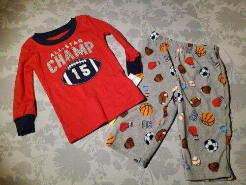 Details about  /NWT Carter/'s Boys 2-Piece Cotton /& Fleece Pajamas 12 month