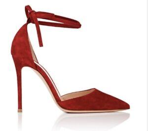 7b93c5e50 Kim Kardashian West GIANVITO ROSSI RED Pointed Toe Heels Size 38 | eBay