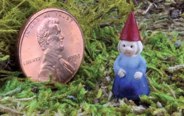 miniature micro lady girl gnome pick go 17421 fairy garden terrarium - Fairy Garden Terrarium