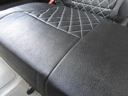 FULL LEATHERETTE VW TRANSPORTER VAN 2014 SEAT COVERS BENTLEY DIAMOND BLACK
