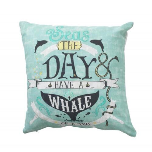 New The Collection Seas the Day Cushion Scatter Square Aqua Blue 43cm x 43cm