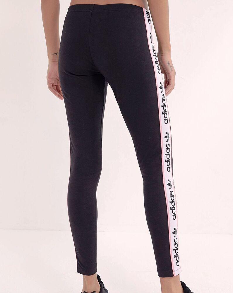 Adidas Originals Ruban Leggings-taille Uk 8-18 Noir/rose Clair-bnwt Rare