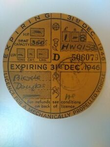 Vintage-Vehicle-Road-Tax-Disc-Exp-Dec-1946