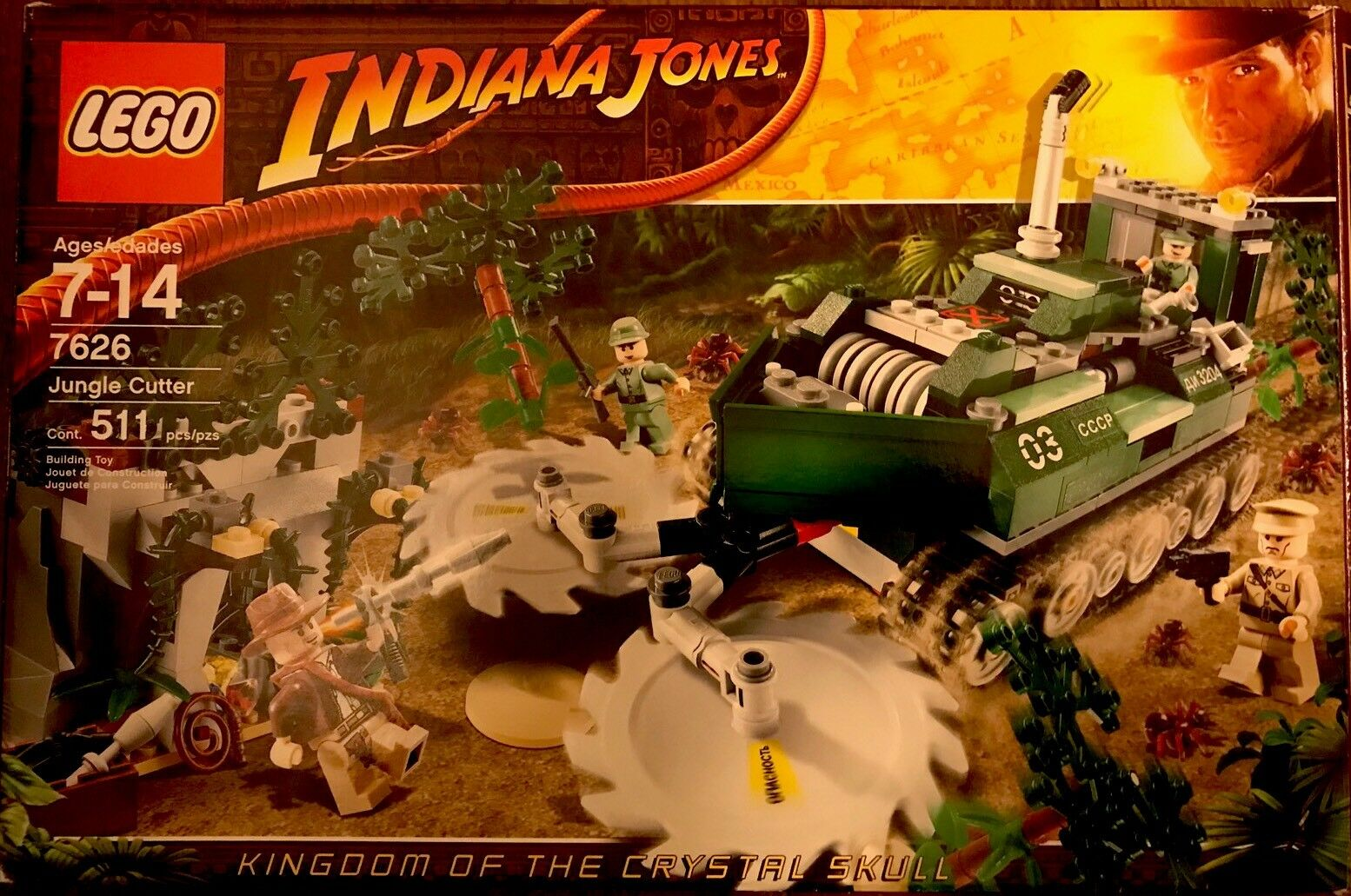 Indiana  Jones™ LEGO The Jungle Cutter (Russian Convoy) 7626 RETIrosso SET  shopping online e negozio di moda
