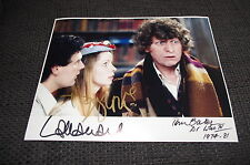 "TOM BAKER, LALLA WARD & DANIEL HILL signed Autogramme ""DOCTOR WHO"" Foto InPerson"