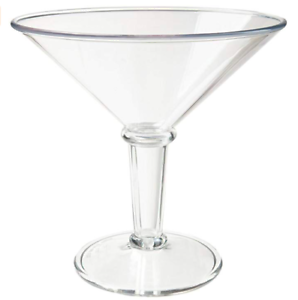 Clear 48 Oz Clear SAN Plastic Super Martini Glass Super Martini Glass