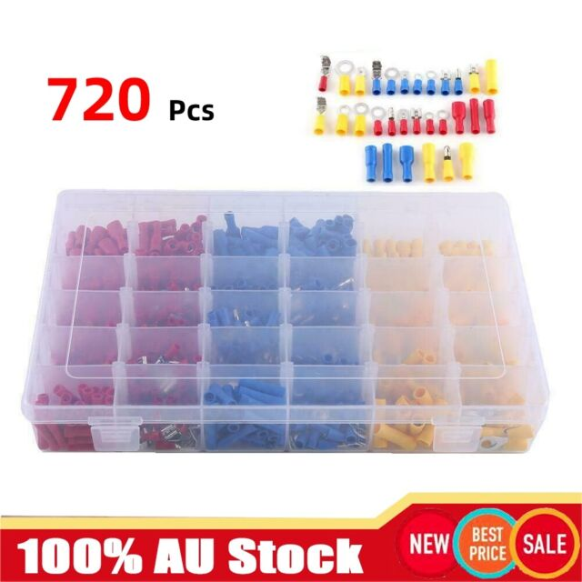 720X Automotive Electrical Wire Connector Insulated Crimp Terminals Spade Set at