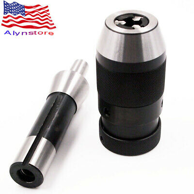 "Keyless Lathe Drill Chuck 1//32/"" 1//2/"" Self Tighten With R8 Shank For CNC Adapter"