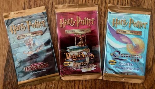Harry Potter CCG Booster Pack Lot *NEW* Assortment x3 Wizards of the Coast