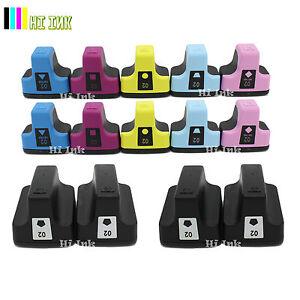 7 02 Ink Cartridge For HP 02 Photosmart C7280 3310 D7360 D7160 C5180 8250