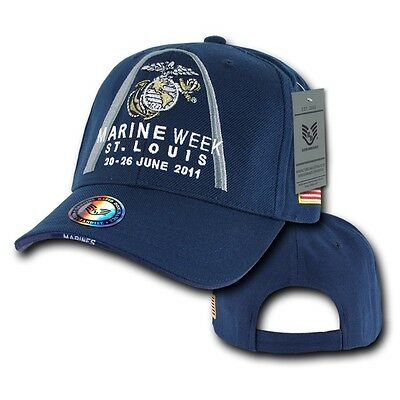 Navy Blue Marine Week St. Louis 2011 Marines Baseball Ball Cap Caps Hat Hats