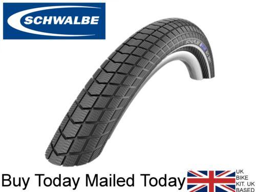 Schwalbe Big Apple 26 x 2.15 Bike Urban Reflex Black Brown 55-559 Cruiser Tyres