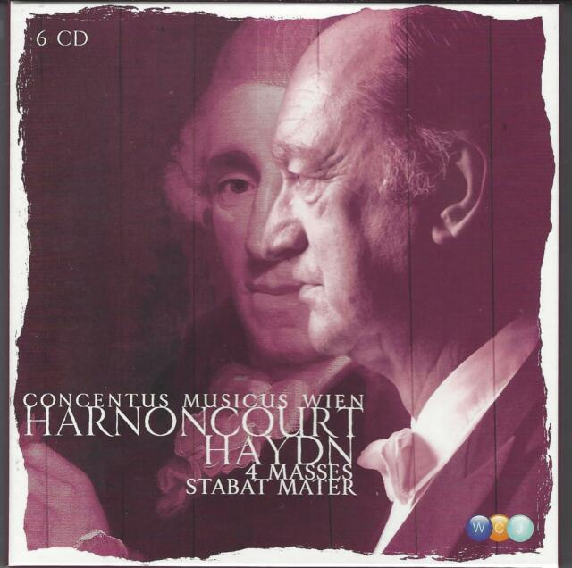 HAYDN, 4 Messen, 4 Masses, Harnoncourt, Concentus Musicus, 6 CD Box, Top Zustand