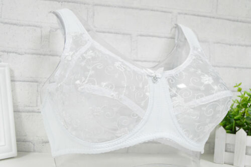 See Through Full Coverage Bra Non Padded Floral Lace Lingerie Plus Size Bralette