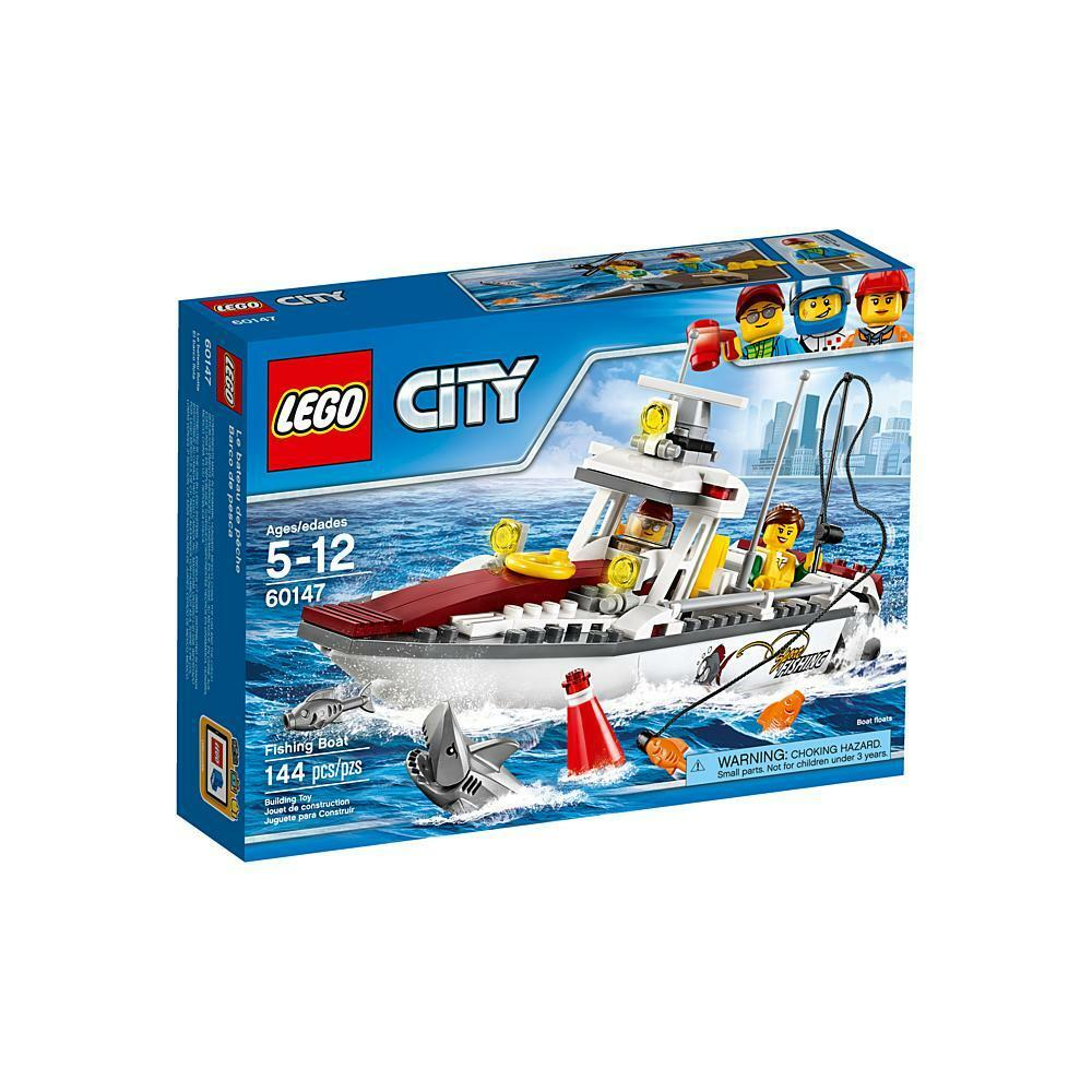 60147 FISHING BOAT lego city town SEALED legos set NEW floats charter shark nisb