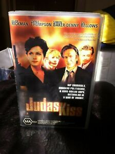 Judas-Kiss-VHS-Ex-rental-VHS-video-tape-Emma-Thompson-Alan-Rickman-Simon-Baker