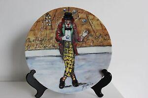 Assiette Limoges Clown Jongleur Fryda Tiree A 15000 Ex Cirque