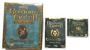 Baldurs-Gate-ll-2-Throne-of-Bhaal-amp-Shadows-of-Amn-Collectors-Box-AD-amp-D-PC-games