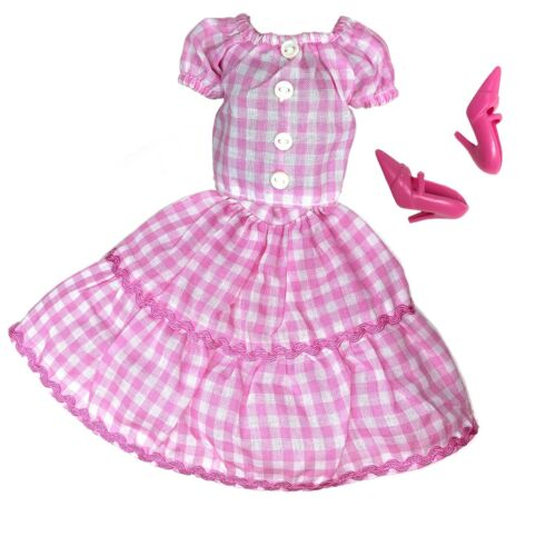 11.5 Inch Doll Clothes Lot Plaid Vintage Peasant Top Skirt Fashion Pack