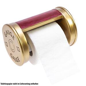 Toilettenpapie<wbr/>rhalter Schrotpatrone | einzigartiges Design  NEU & OVP!