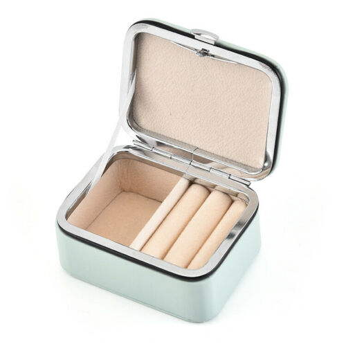 Mini Tragbare Schmuckkästchen PU Schmuckschatulle Ring Ohrring Aufbewahrungsbox