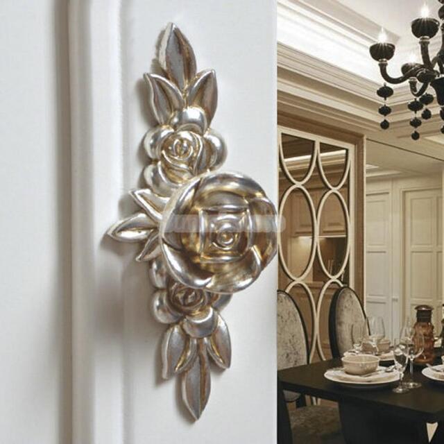 Antique Silver Rose Knob Kitchen Cabinet Cupboard Drawer Door Handle Pull 103mm