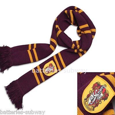 200cm New Harry Potter Gryffindor Thicken Wool Knit Scarf Wrap Soft Warm Costume