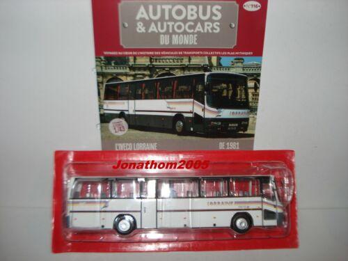 AUTOBUS /& AUTOCARS DU MONDE IVECO LORRAINE 300 TS II 1981 au 1//43°