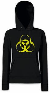 BLACK-BIOHAZARD-SYMBOL-Damen-Hoodie-Kapuzenpullover-Goth-Cyber-Logo-Gothic-Sign