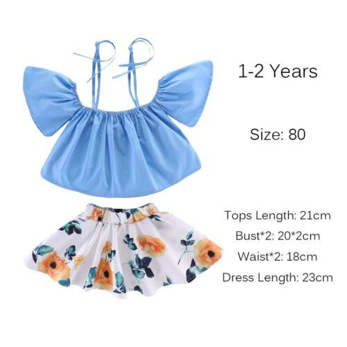 Kids Baby Girls Dress Boys Outfits Clothes T-shirt Tops+Pants//Shorts//Skirt Set