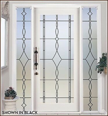 ALLURE Privacy Leaded Glass Look Frosted Window Film Peel & Stick Static Cling